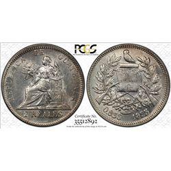 GUATEMALA: Republic, AR 2 reales, 1895. PCGS MS62