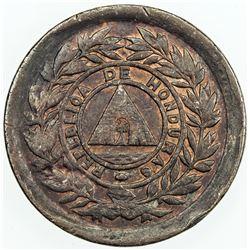 HONDURAS: AE centavo, 1891. EF