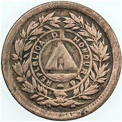 HONDURAS: AE centavo, 1893/81. F-VF