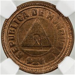 HONDURAS: AE centavo, 1907. NGC MS63