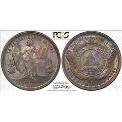 HONDURAS: AR 50 centavos, 1884. PCGS MS62