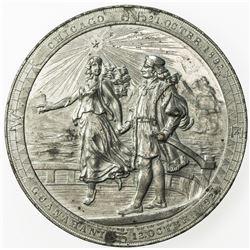 UNITED STATES:, 1893 medal (89.62g). EF-AU