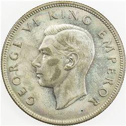 NEW ZEALAND: George VI, 1936-1952, AR 1/2 crown, 1944. AU