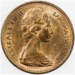 NEW ZEALAND: Elizabeth II, 1952-, AE 2 cents, ND [1967]. UNC