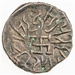 PARATA RAJAS: Spajhayama, ca. 50 BC to 50 AD, AE drachm (1.09g). F