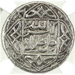 MUGHAL: Akbar I, 1556-1605, AR rupee, Ahmadabad, IE47. NGC VF35