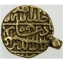 MUGHAL: Akbar I, 1556-1605, AV mohur (11.49g), MM, AH983