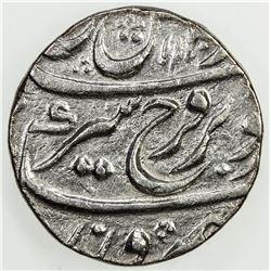 MUGHAL: Farrukhsiyar, 1713-1719, AR rupee (11.52g), Murshidabad, AH1130 year 7. VF