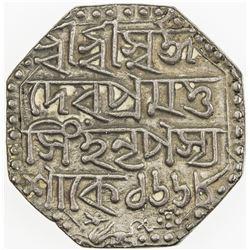 ASSAM: Pramatta Simha, 1744-1751, AR rupee, SE1668 (1746). VF-EF