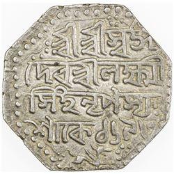 ASSAM: Lakshmi Simha, 1769-1780, AR rupee, SE1693 (1771). VF