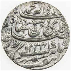 AWADH: Ghazi al-Din Haidar, 1819-1827, AR rupee (10.98g), Lucknow, AH1234 year 26. EF