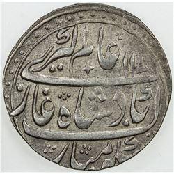 FARRUKHABAD: Ahmad Khan, 1750-1771, AR rupee (11.3g), Ahmadnagar, AH1170 year 4. EF