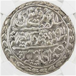 JAIPUR: Madho Singh II, 1880-1922, AR nazarana rupee, Sawai Jaipur, 1911 year 32. NGC MS65