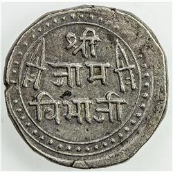 NAWANAGAR: Vibhaji, 1852-1894, AR kori (4.84g), VS1936 (1879). AU