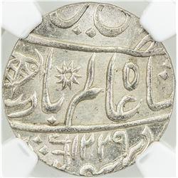 BENGAL PRESIDENCY: AR rupee, Muhammadabad Banares, AH1229 year 17-49. NGC MS65