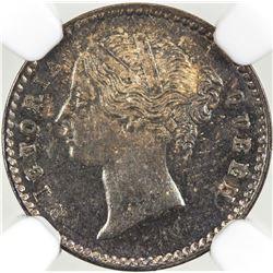 BRITISH INDIA: Victoria, Queen, 1837-1876, AR 2 annas, 1841(c)