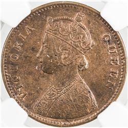 BRITISH INDIA: Victoria, Queen, 1837-1876, AE 1/4 anna, 1862(c)