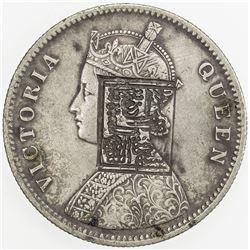 BRITISH INDIA: Victoria, Queen, 1837-1876, AR rupee, 1862. VF