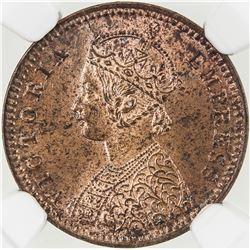BRITISH INDIA: Victoria, Empress, 1876-1901, AE 1/12 anna, 1899(c)