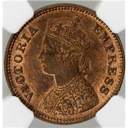 BRITISH INDIA: Victoria, Empress, 1876-1901, AE 1/2 pice, 1901(c)