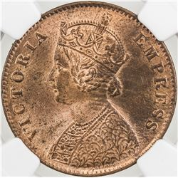BRITISH INDIA: Victoria, Empress, 1876-1901, AE 1/4 anna, 1900(c)