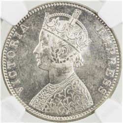 BRITISH INDIA: Victoria, Empress, 1876-1901, AR rupee, 1901-B. NGC MS62
