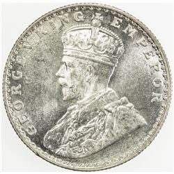BRITISH INDIA: George V, 1910-1936, AR 1/2 rupee, 1936 (b). UNC