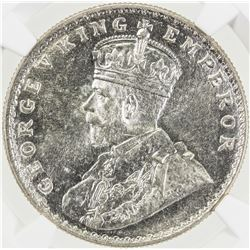 BRITISH INDIA: George V, 1910-1936, AR rupee, 1916(b). NGC MS63
