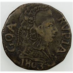 GOA: Joao, as regent, 1799-1816, AR rupia, 1803. VF