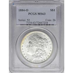 1884-O $1 Morgan Silver Dollar Coin PCGS MS63 Amazing Reverse Toning