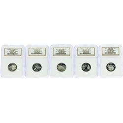 Lot of (5) 2002-S State Quarter Silver Coins NGC PF69 Ultra Cameo