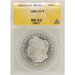1883-CC $1 Morgan Silver Dollar Coin ANACS MS62DMPL