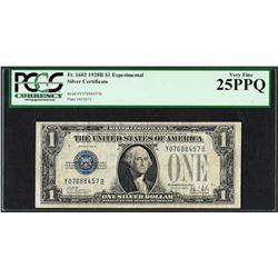 1928B $1 Experimental Silver Certificate Note Fr.1602 PCGS Very Fine 25PPQ