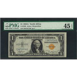 1935A $1 North Africa Silver Certificate WWII Note PMG Choice Extremely Fine 45E