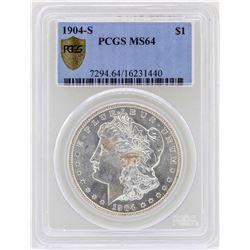 1904-S $1 Morgan Silver Dollar Coin PCGS MS64
