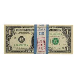 Pack of (100) Consecutive 1969B $1 Federal Reserve Notes San Francisco