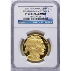 2011-W $50 American Buffalo Gold Coin NGC PF70 Ultra Cameo Early Releases