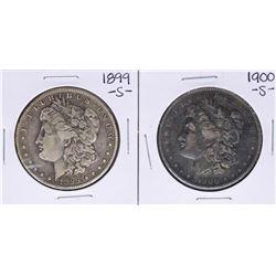 Lot of 1899-S & 1900-S $1 Morgan Silver Dollar Coins