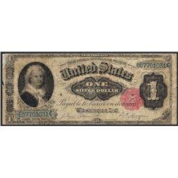 1891 $1 Martha Washington Silver Certificate Note - Splits