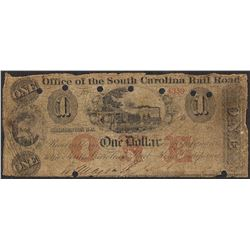 1800's $1 Office South Carolina Rail Road Obsolete Note