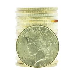 Roll of (20) 1922 $1 Brilliant Uncirculated Peace Silver Dollar Coins