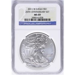 2011-W $1 American Silver Eagle Coin NGC MS69