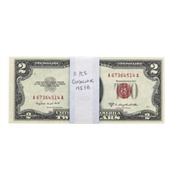 Lot of (11) 1953B $2 Legal Tender Notes