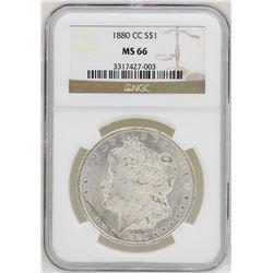 1880-CC $1 Morgan Silver Dollar Coin NGC MS66