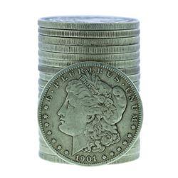 Roll of (20) 1901-O $1 Morgan Silver Dollar Coins