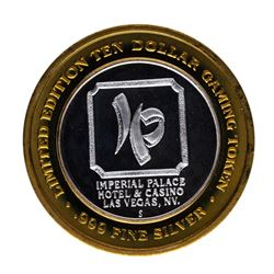 .999 Silver Imperial Palace Hotel & Casino Nevada $10 Limited Edition Gaming Tok