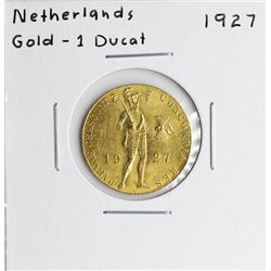 1927 Netherlands Ducat Gold Coin