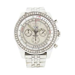 Breitling Bentley Stainless Steel 2.20 ctw Diamond Wristwatch