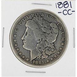 1881-CC $1 Morgan Silver Dollar Coin
