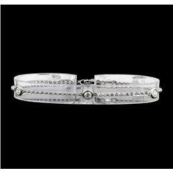 14KT White Gold 0.60 ctw Diamond Bracelet